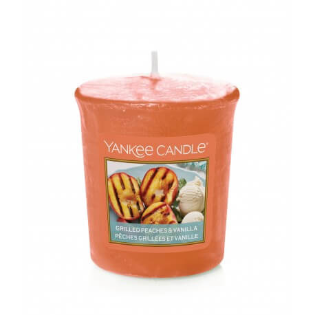YANKEE CANDLE GRILLED PEACHES & VANILLA ŚWIECA SAMPLER 49G