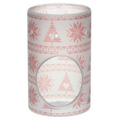 Yankee Candle Red Nordic Frosted Glass kominek do wosków